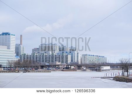 Landscape with the image of Helsinki, Finland