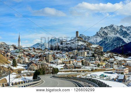 The village of Brölet in the Engadine Switzerland.