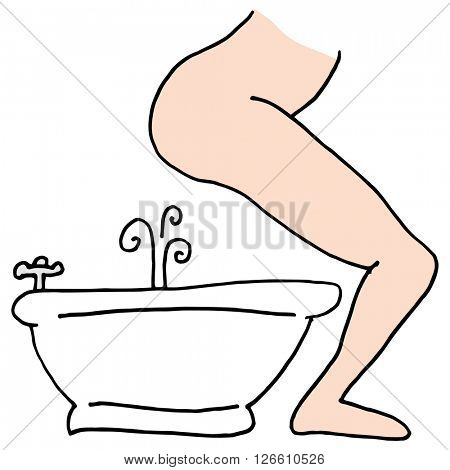 An image of a person using a bidet.