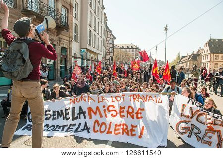 April Protest Against Labour Reforms In France