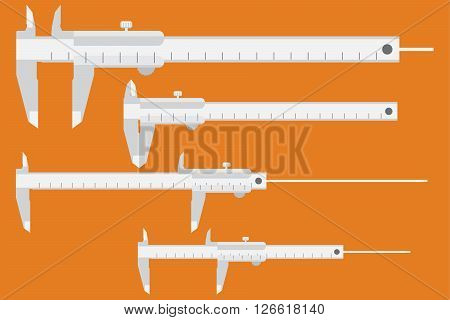 Caliper Icon. Measuring Instrument