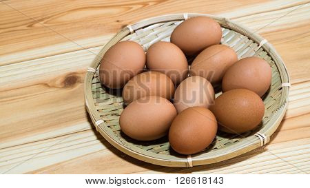 The nutritious good brown egg alimentation iis freshly.