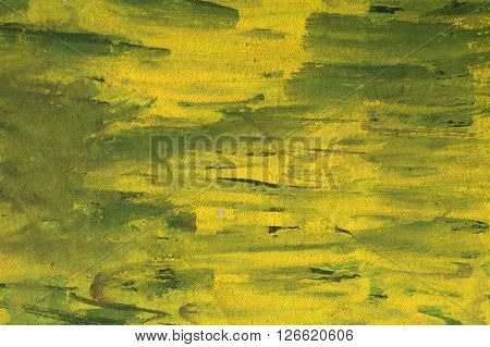 abstract brush stroke daub background yellow oil paint