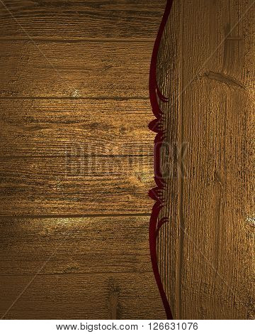 Grunge Wood Background With Pattern. Template For Design. Copy Space For Ad Brochure Or Announcement