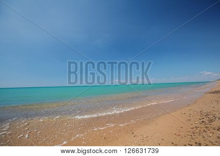 surf on a background of blue sky