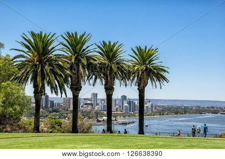 Kings Park overlooking Perth in Western Australia