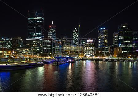 Elizabeth Quay on the Perth waterfront in western Australia