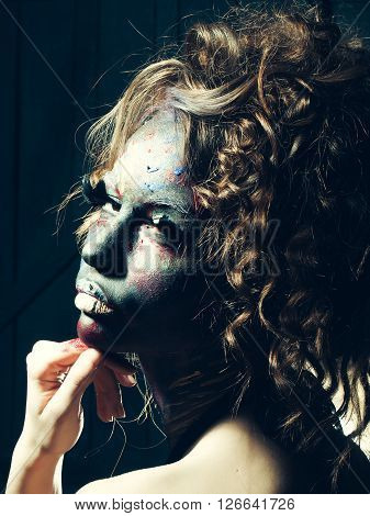 Woman With Paited Face