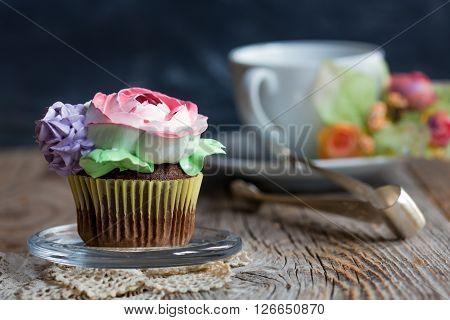 Chocolate Cupcake For Tea.