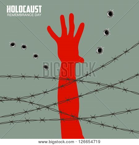 Holocaust Remembrance Day. Design element in vector.