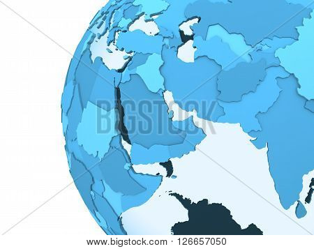 Middle East On Translucent Earth