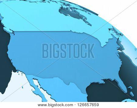 Usa On Translucent Earth