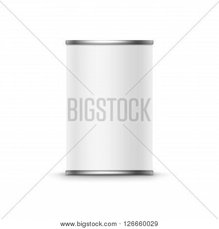 Tin box can packaging container isolated illustration on white background