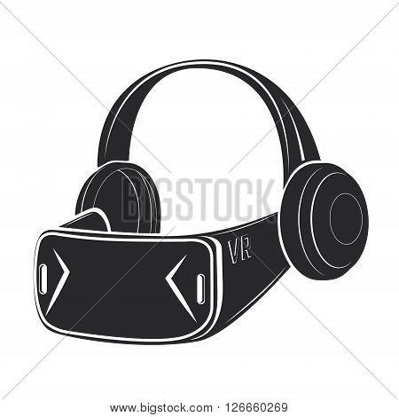 Virtual reality glasses icon. Virtual reality glasses image. Design elment in vector.
