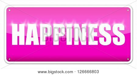 Pink card Happiness isolated over white background