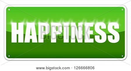 Green card Happiness isolated over white background