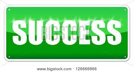 Green card Success isolated over white background