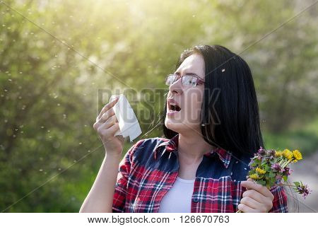 Girl Having Allergy