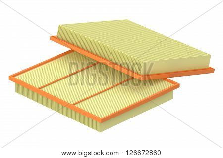 air filter for car 3D rendering isolated on white background