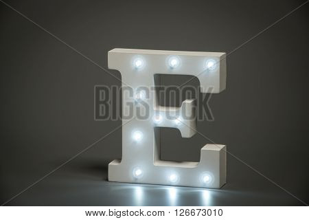 Decorative Letter E With Embedded Led Lights
