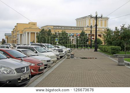 Khabarovsk, Russia - August 16, 2013: Officers Club Of Eastern Military District In Khabarovsk