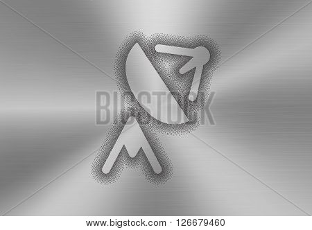 Satellite Antenna Icon Made Of Stipples