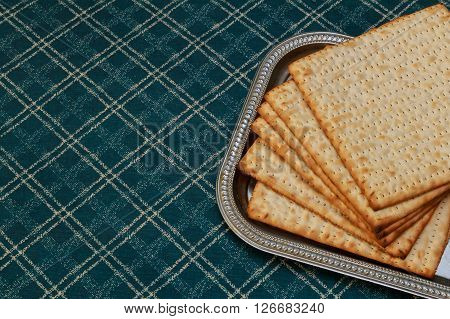Pesach matzo passover with wine and matzoh jewish passover bread