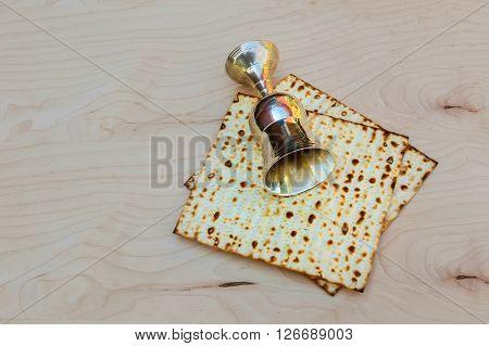 Matzo passover with wine and matzoh jewish passover bread Pesach Still-life with wine and matzoh