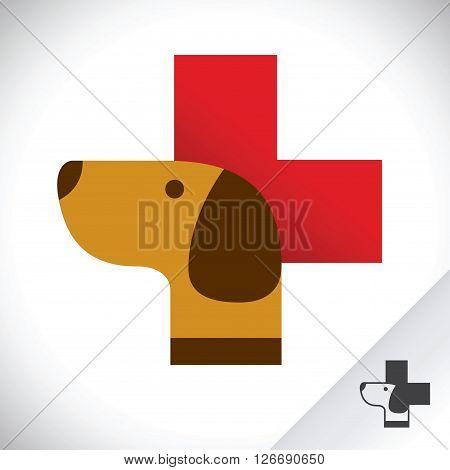 Vector stock of dog health care pet clinic icon symbol