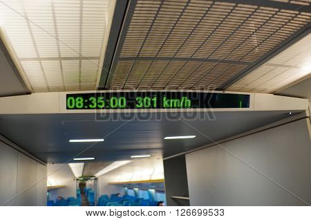 PUDONG, SHANGHAI/CHINA - DEC 8 2013: 