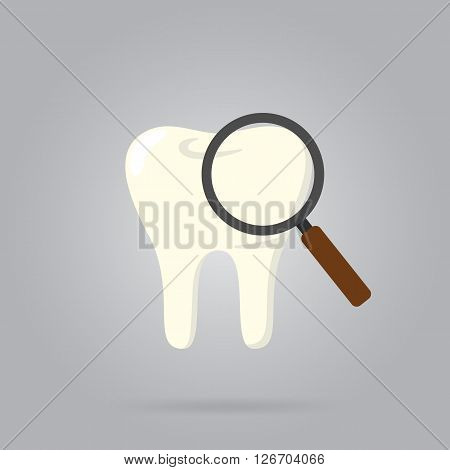 Vector tooth icon. Dental care symbol. Tooth logo isolated vector illustration. Human tooth vector. Isolated tooth. Dental logo. White tooth. Clean tooth.