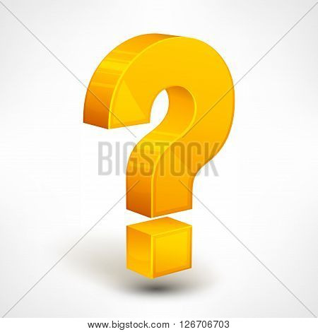 Question mark isolated on white vector illustration
