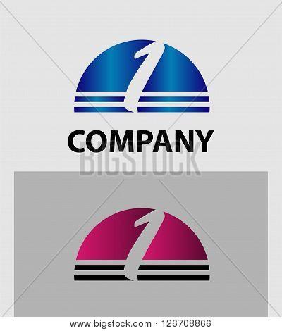 Number one logo set. logo icon design template elements