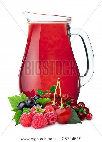 Pitcher Of Berry Juice