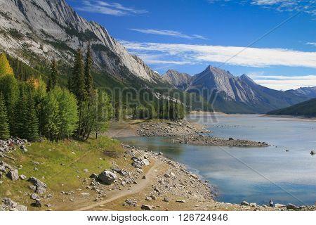Medicine Lake At The Jasper National Park