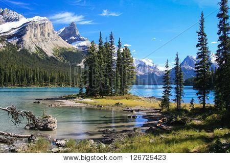 Spirit Island On The Maligne Lake