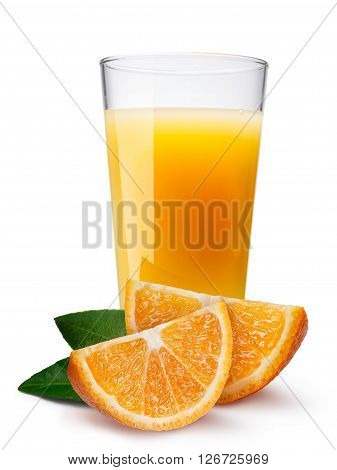 Glass With Fresh Orange Juice