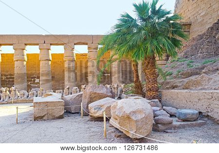 The best way to explore ancient Thebes is to visit archaeological site of the Karnak Temple Luxor Egypt.