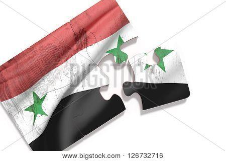 Puzzle Syria Flag