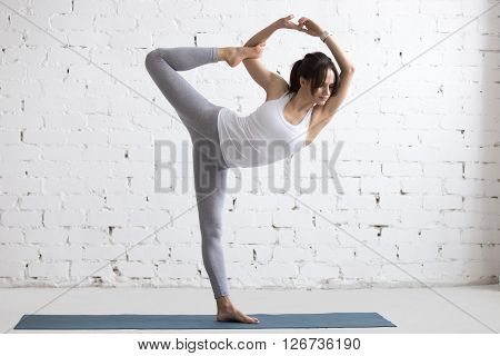 Yoga Indoors: Lord Of The Dance Pose