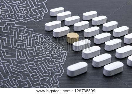 along with a labyrinth aligned white pills ** Note: Soft Focus at 100%, best at smaller sizes