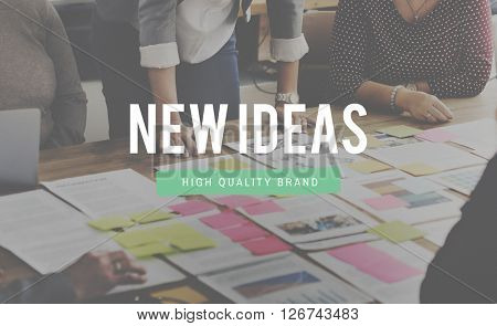 New Ideas Launch Start up Commerce Concept
