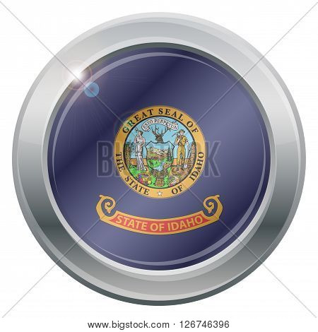 Idaho Flag Silver Icon