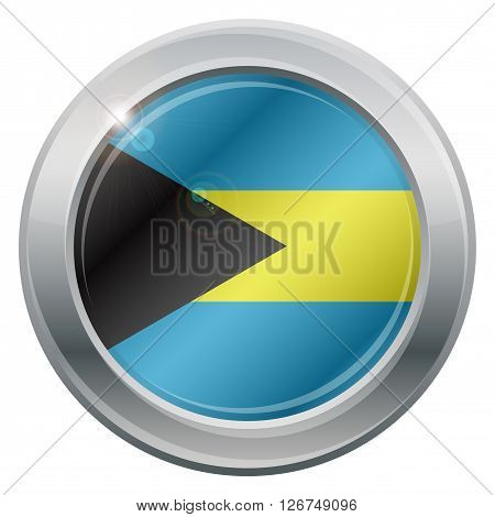 Bahamas Flag Silver Icon