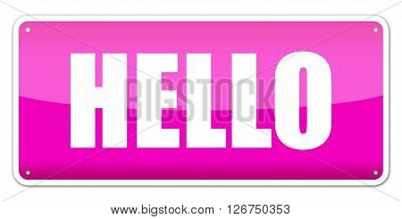 Pink Card Hello