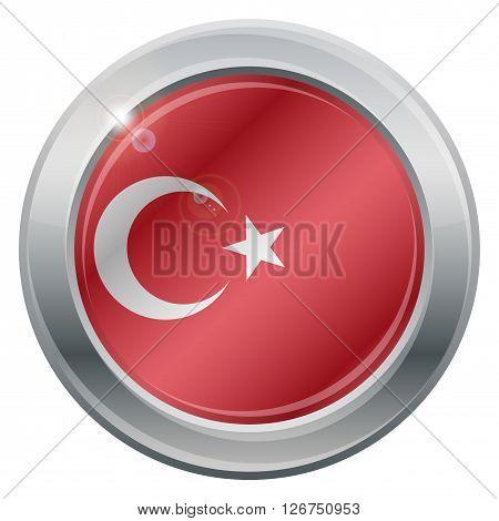 Turkey Flag Silver Icon