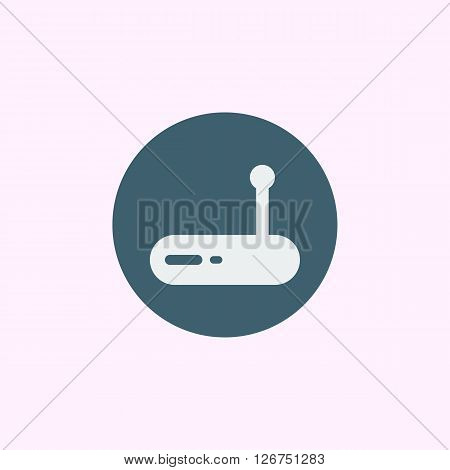 Modem Icon In Vector Format. Premium Quality Modem Symbol. Web Graphic Modem Sign On Blue Circle Bac