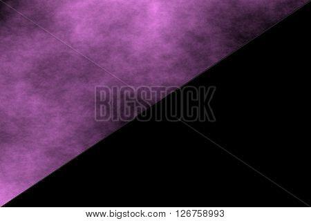 black background with half side of purple smoke