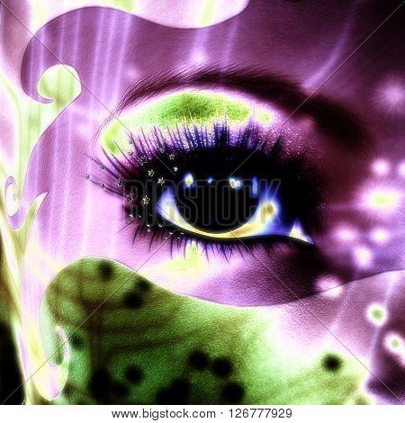 3D Illustration; 3D Rendering of a mystic Female poster