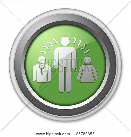 Icon Button Pictogram with Interpreter Services symbol